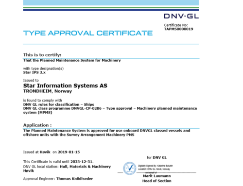 New DNV GL Type Approval Certificate for Star IPS 3.x