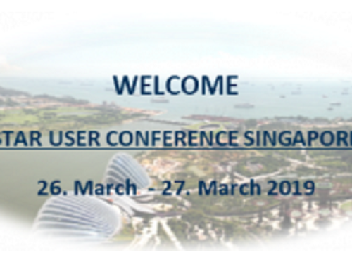 STAR User Conference, Singapore, 26-27 March 2019