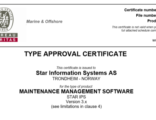 New BV Type Approval Certificate for Star IPS 3.x
