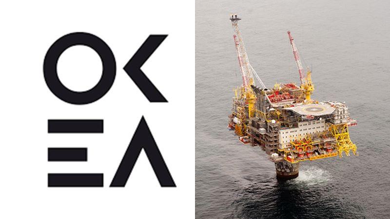 OKEA logo, Draugen field