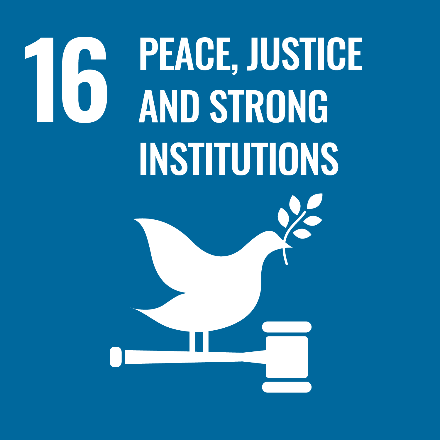 UN SDG GOAL 16 PEACE, JUSTICE AND STRONG INSTITUTIONS